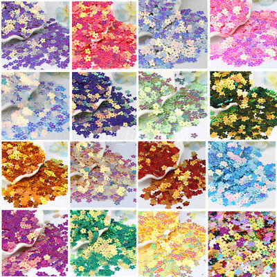 480Pcs 7mm Shiny Flowers Loose Sequins Paillettes DIY Sewing Costumes Dancewear