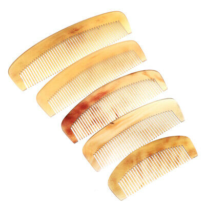 Natural Amber Ox Horn Comb Hair No Static Health Care Brush Hairdressing Comb (Health Hair Horn Comb)