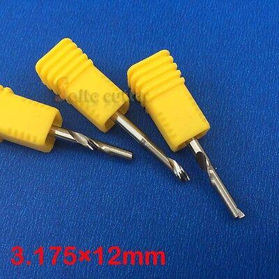 5pc Aluminum End Milling Single Flute Cnc Router Cutting Bit 18 3.175mm 12mm