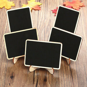20x Wooden Mini Blackboard Wedding Party Memo Sign Message Chalk Board Office