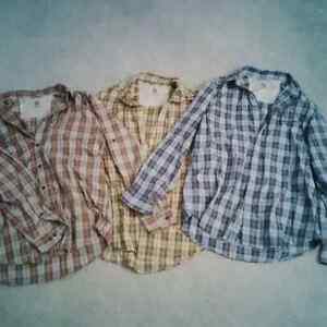 3 incredibly soft men's plaid shirts – size medium