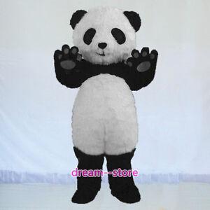 sale new baby panda bear mascot costume adult size halloween dress. Black Bedroom Furniture Sets. Home Design Ideas