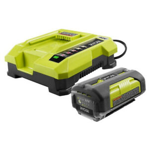 Ryobi  40-Volt Lithium-ion Battery  and 40V Charger