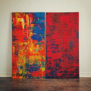 Decorative abstract paintings