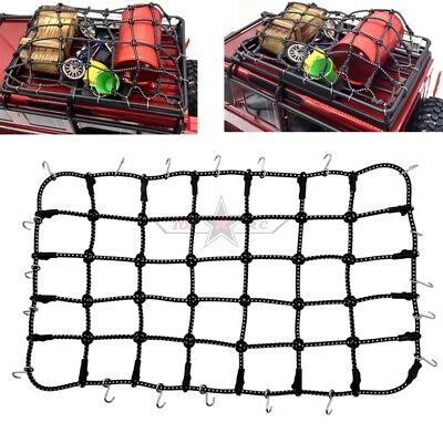 (Rc 1/10 Scale Accessories Traxxas TRX-4 D110 Luggage Roof Rack Net Black)