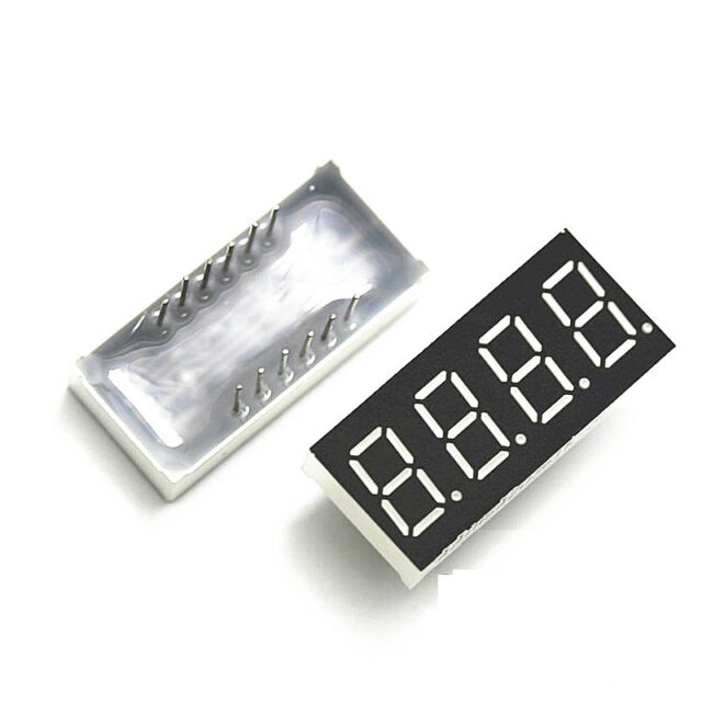 2pcs 0.36 inch 4 digit led display 7 seg segment Common cathode Red