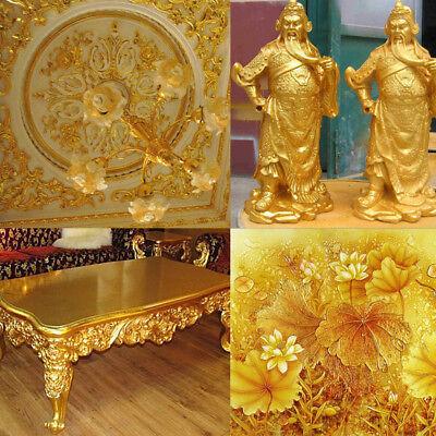100 sheets Imitation Gold Silver Copper Leaf Foil Paper Gilding Art Craft DIY