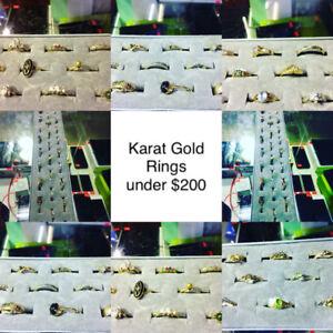 Karat Gold Rings under $200