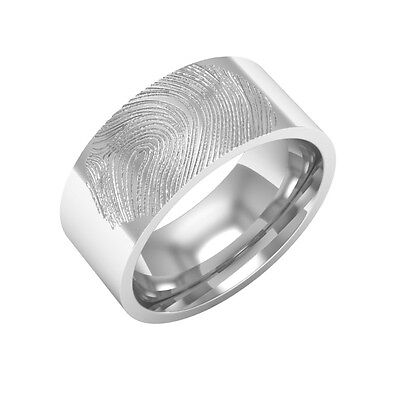Mens Fingerprint Wedding Bands Collection On EBay