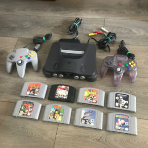 Nintendo 64 console with 2 controllers / 8 games for sale