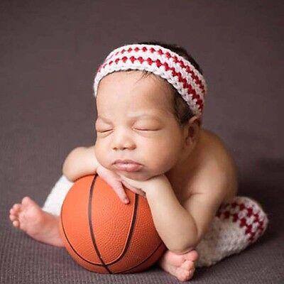 Fotoshooting Neugeborene Baby Kostüm Fußballer Stirnband + Stulpen Foto (Fußball Baby Kostüme)