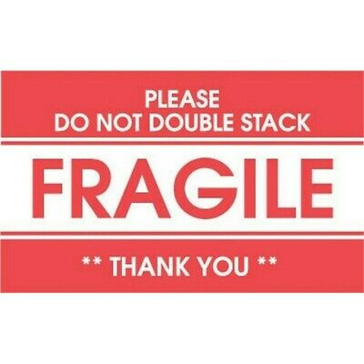 2 X 3 Fragile Please Do Not Double Stack Labels 500 Per Roll