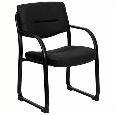 Scranton Co Leather Executive Side Guest Chair In Black
