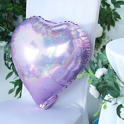 """2 LAVENDER 15"""" wide Hearts Mylar Foil Balloons Wedding Event Party Decorations"""