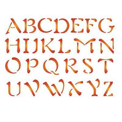Brief Großbuchstaben Alphabet Schablone Scrapbook Handwerk Kunststoff Vorlagen ()