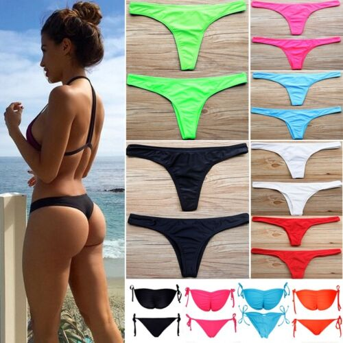 Women HOT Brazilian Cheeky Bikini Bottom Thong Bathing Beach