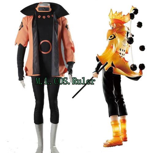 New 2017 Anime Naruto Uzumaki Naruto Apparel Cosplay Costume Full Suit