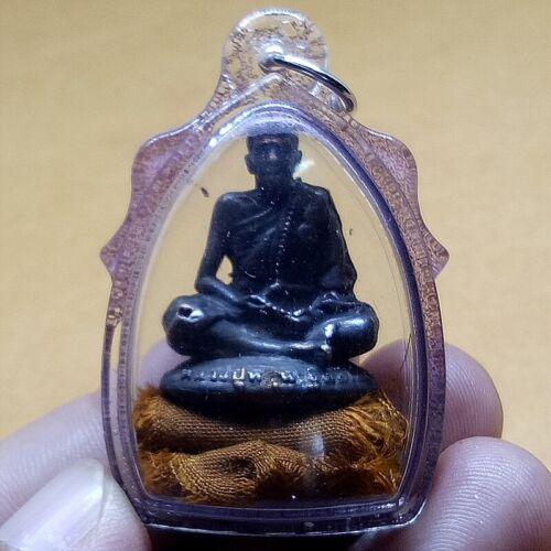 Statue Phra LP Mhun Yellow robe Wat Banjan Thai  Buddha Amulet Holy Magic Rare