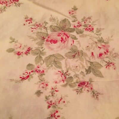 Rachel Ashwell Shabby Chic Retired Fabric Rose Blossom Oyster 1 Yd Floral Sample for sale  Mobile