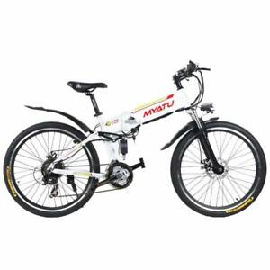 "Summer  Promotion!  High Quality 26"" ALUMINUM ALLOY FOLDING MOUNTAIN EBIKE, X5-26, 500W,  White $1599(was $2099)"