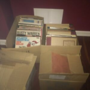 Vintage vinyl records 78's and 33's