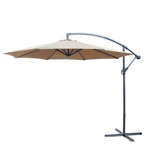 LARGE OFF- SET PATIO UMBRELLA & BASE *** CAN DELIVER