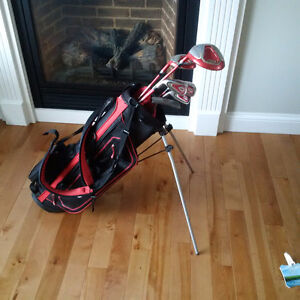 Jr golf clubs left hand and stand bag