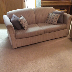 Loveseat Sofabed and Toss Cushions