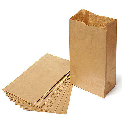 Brown Kraft Paper Bags Gift Food Bread Candy Wedding Party Bags High Quality (Brown Candy)