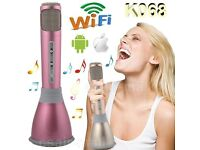 Bluetooth Mic K068 Bluetooth KTV Player Speaker Microphone Upgrade Music &Mic Uk