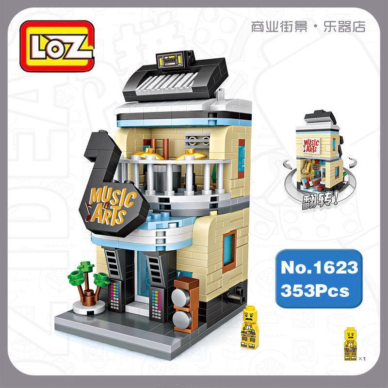 LOZ 1625 Bausteine Gebäude Sushi Shop Restaurant Puppenhaus Straße Modell 420PCS