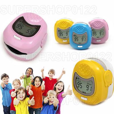Children Kids Finger Pulse Oximeter Blood Oxygen Saturation Spo2 Heart Monitor