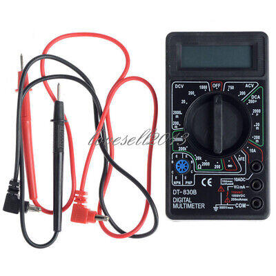Mini Lcd Digital Dt830b Multimeter Voltmet Electric Voltage Testertest Lead Pen