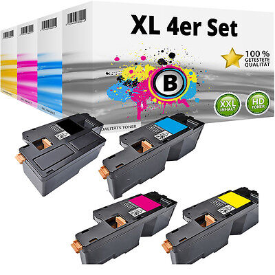 Set 4x Toner für Xerox Phaser 6020 6020BI 6022 WorkCentre WC 6025 6027