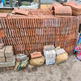 Handmade clay roof tiles Unused. 45 pence each