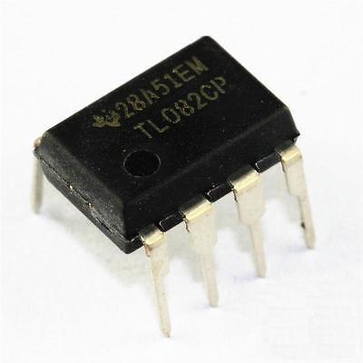 5pcs Tl082 Tl082cp Ti Dip8 Ic Jfet-input Operational Amplifiers New Z3