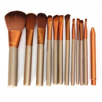 12 Pcs/lot Face &Eye Powder Blusher Professional Cosmetics Make Up Brushes Set