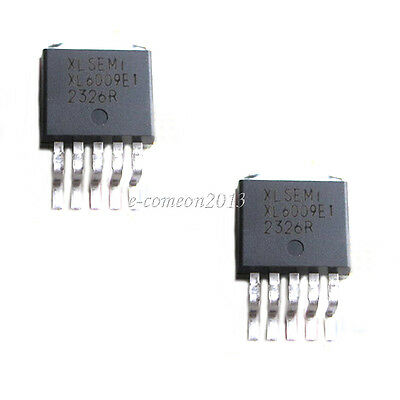 New 2pcs Xl6009e1 Dc-dc Adjustable Step-up Boost Ic Chip 42v4a400khz To-263 Ic