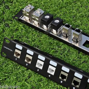 24-Port-1U-Blank-Modular-Patch-Panel-19-Rack-Mount