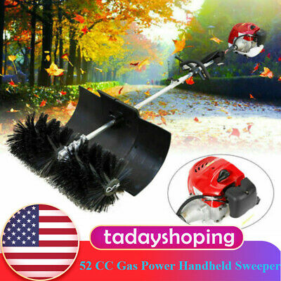 52 Cc Gas Power Handheld Sweeper Broom Driveway Grass Brush Sweeping Sweeper Usa