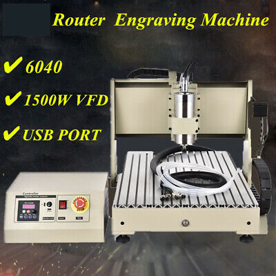 1.5kw 4axis Usb Cnc Router 6040 Engraver Machine Mill Drill Woodworking 3d Cutte