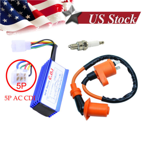 Motorcycle 50 110cc Engine Ignition Coil Plug For Racing Dirt Pit Bike XR CRF50