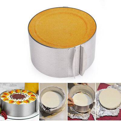 Round Cake Mousse Ring Mold Mould Cutter Slicer Pastry Tool Extendable 6