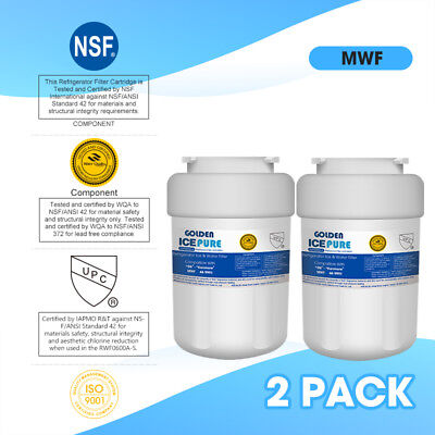 Fits GE MWF SmartWater MWFP GWF Comparable Refrigerator Water Filter 2 Pack