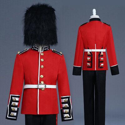 ch Königsblau Wächter Uniform Kostüm Jacke Hussar Trommel (Jungen Steampunk Kostüm)