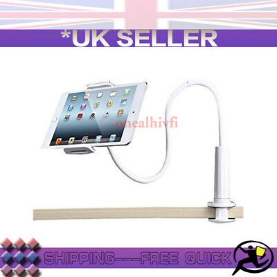White 360° Bed Desk Stand Holder For iPhone iPad Air Mini Tablet Gooseneck Lazy