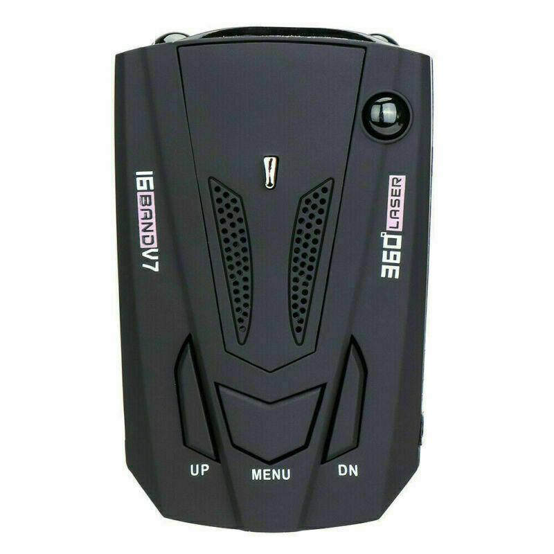 Car V7 Cobra 16 Band 360 Anti-Police GPS Camera Laser Radar Detector Voice Alert