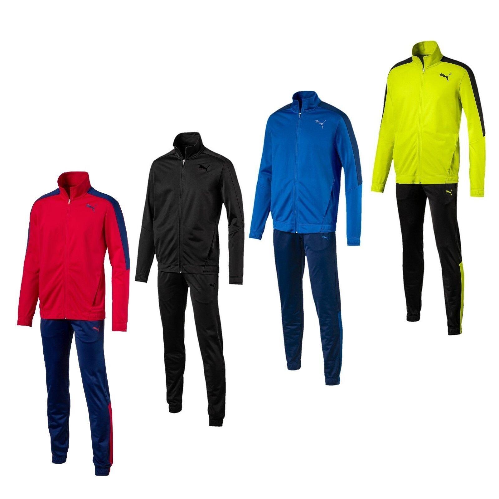 Puma Herren Sportanzug Jogginganzug Trainingsanzug rot schwarz blau Männer
