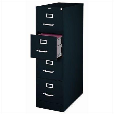 Filing Cabinet File Storage Hirsh Industries 4 Drawer Letter In Black
