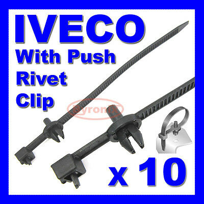 IVECO CABLE TIES ZIP TIE WRAP PUSH RIVET CLIP WIRING LOOM HARNESS QUICK RELEASE